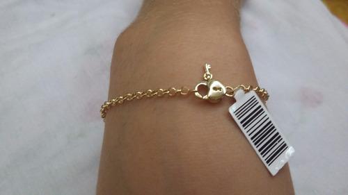 pulseira ouro 18k elos portugues muito delicada.
