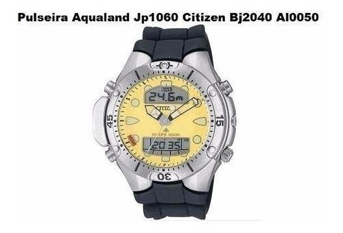pulseira p/ aqualand jp1060 citizen bj2040 al0050 prata