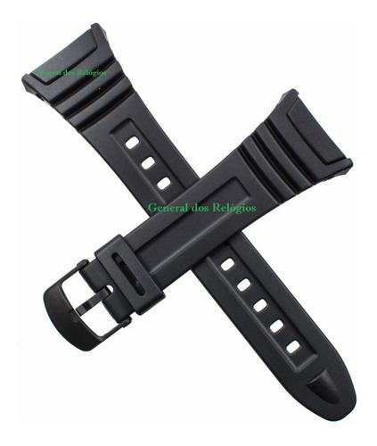 pulseira p/ casio illuminator w96 w96h cor preto fosco nova