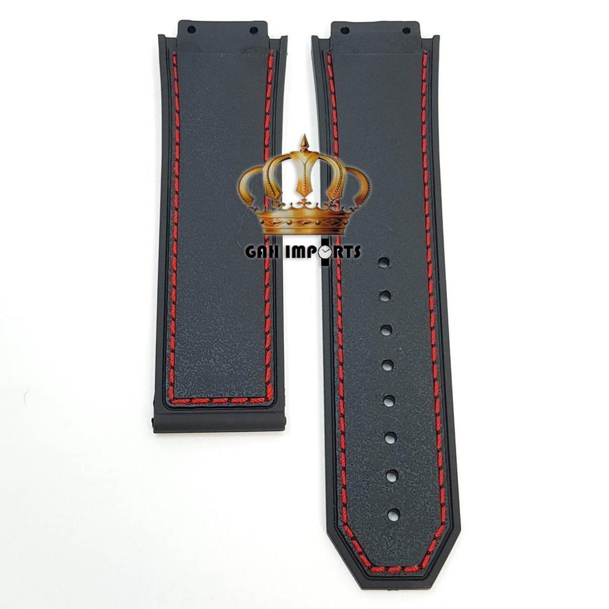 c7a8797c2f3 Pulseira P  Hublot King Power F1 Com Costura Vermelha - R  59