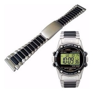 pulseira p/ relógio aço pvc timex ironman 22mm + frete