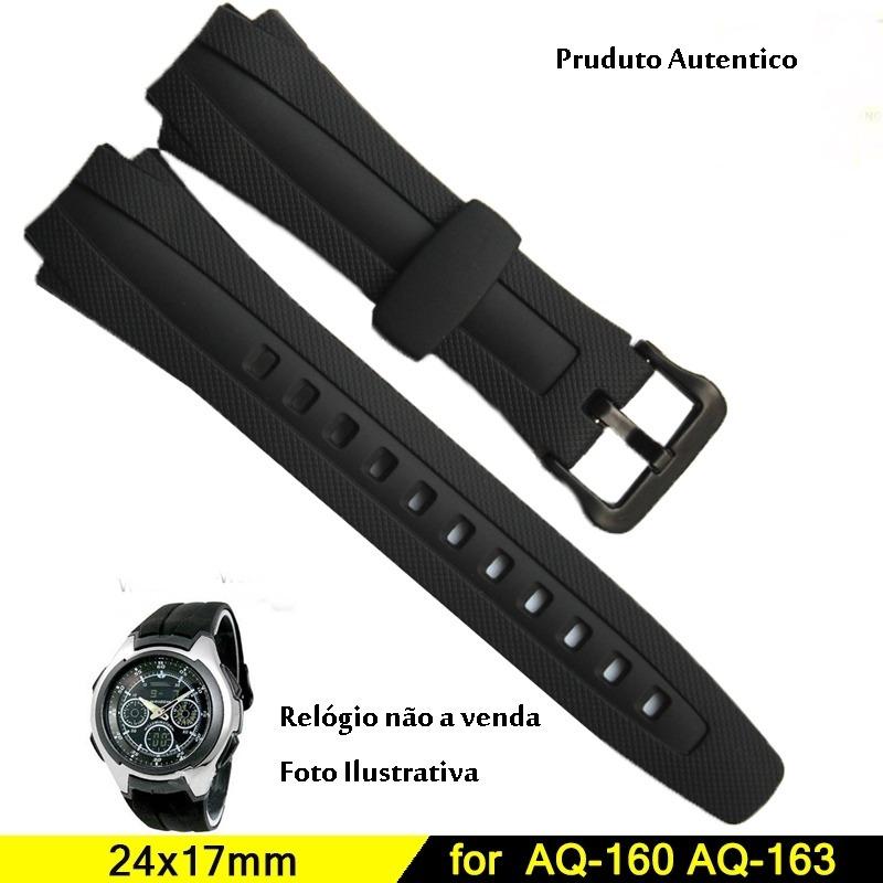 7b22507829c pulseira p  relógio casio aq-160 aq-161 aq-162 aq-. Carregando zoom.