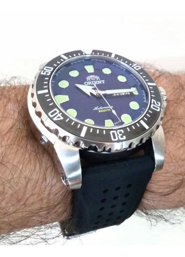 pulseira p/ relógio orient 469ss073 netuno - silicone