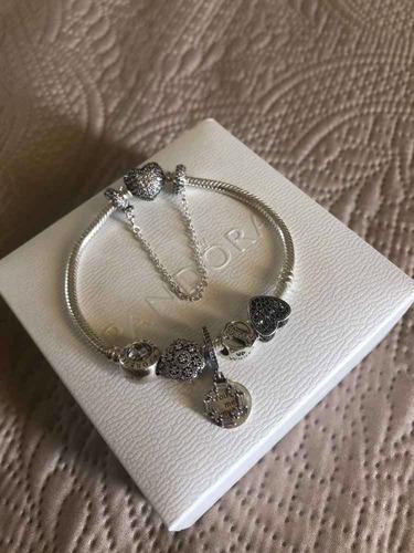 pulseira pandora completa com berloques original usada