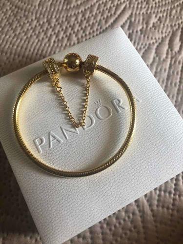 pulseira pandora shine com trava original usada
