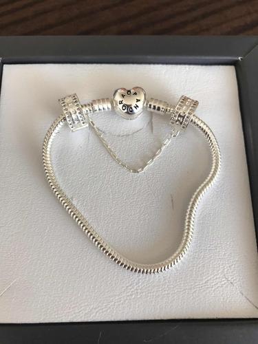 pulseira pandora  trava cravejada cravejada  925