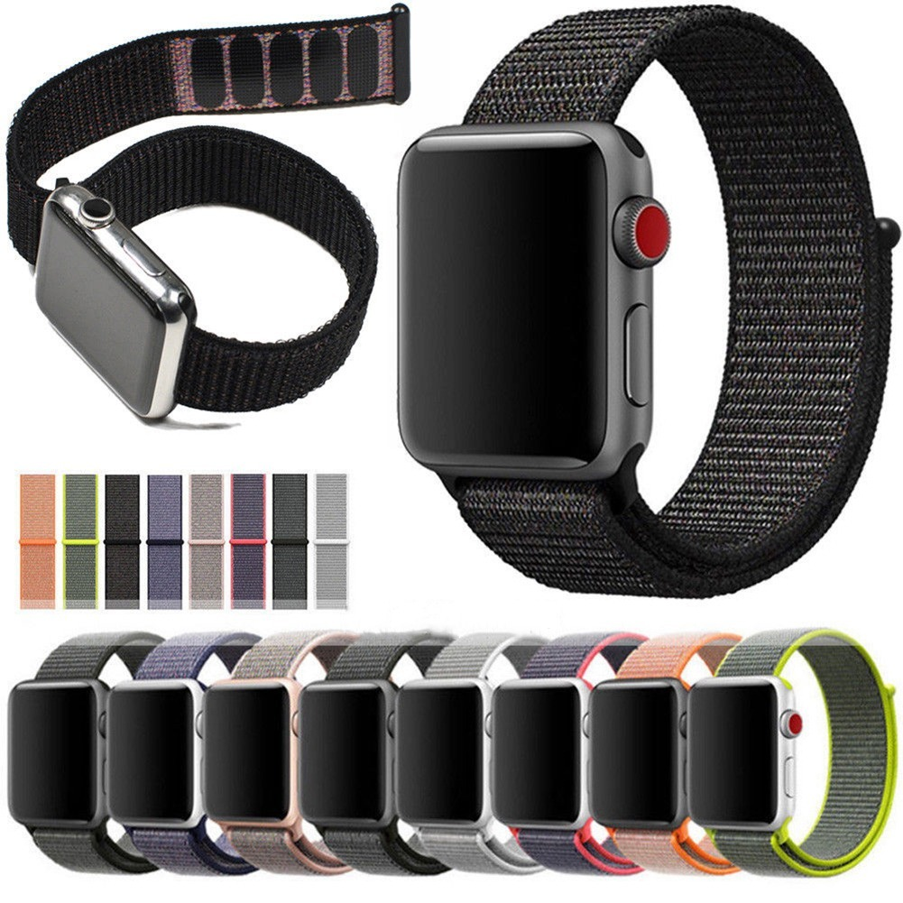 23724e9a215 pulseira para apple watch nylon loop esportiva - 38mm   42mm. Carregando  zoom.