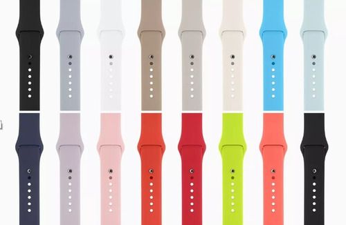 pulseira para apple watch1 2 3 4silicone38 42mm 40 44mmcores