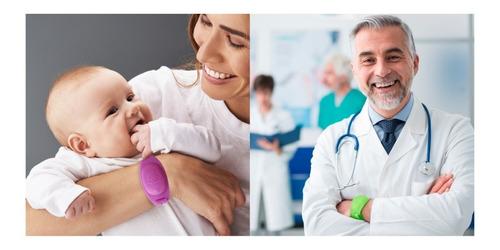 pulseira para biossegurança ortho pauher armazena álcool gel