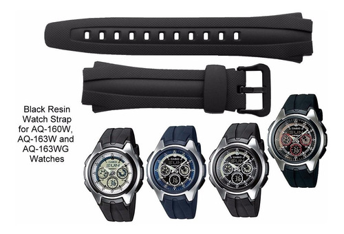 pulseira para casio masculino aq-160  preta pronta entrega!!