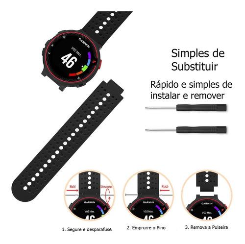 pulseira para garmin 235 630 735xt silicone fácil de trocar