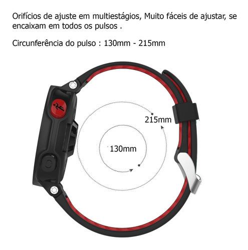 pulseira para garmin 235 735xt 630 220 silicone premium troca fácil e rápida acompanha 2 chaves