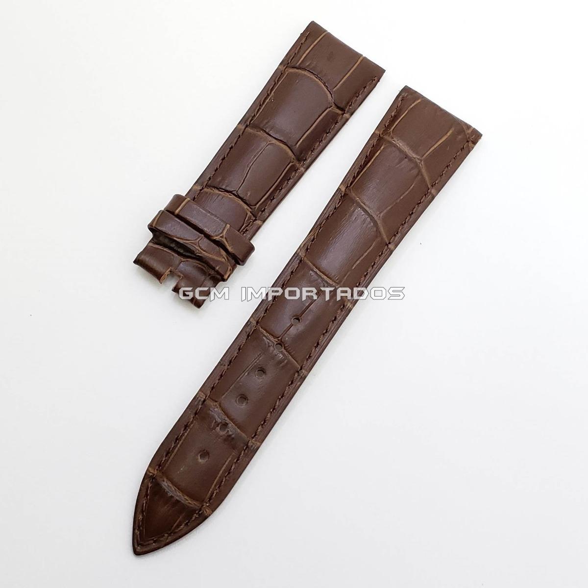 6018aff22f0 pulseira para mont blanc em couro legítimo marrom 22 18 mm. Carregando zoom.
