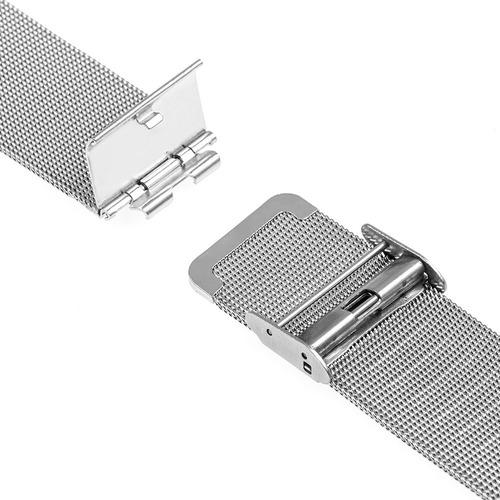 pulseira para relógio benyar em malha de aço inox