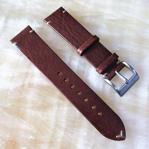 pulseira para relógio  em couro marrom  20 mm
