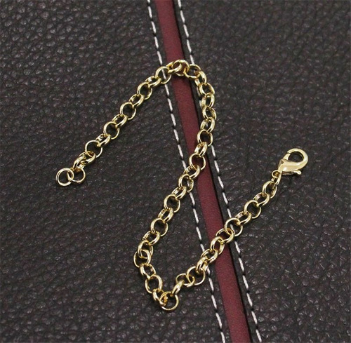 pulseira portuguesa folheada a ouro com 5mm e 18,5cm