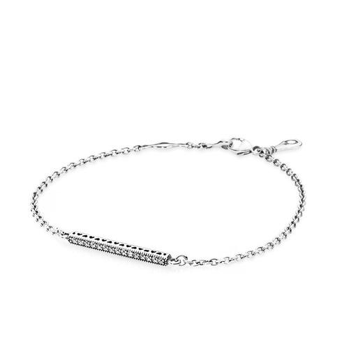 pulseira prata 925 com cristais zircônia
