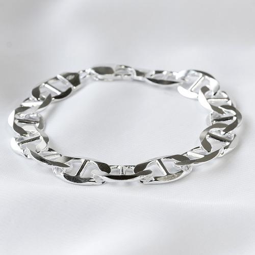 pulseira prata 925 de lei / 23.00 gr - 23 cm (7 x2 mm)
