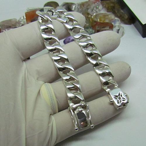 pulseira prata 950k fire blade 11mm original ojoalheiro