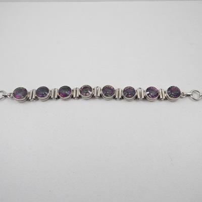 pulseira prata de bale - pedras furta cor