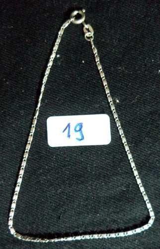 pulseira prata de lei número 19