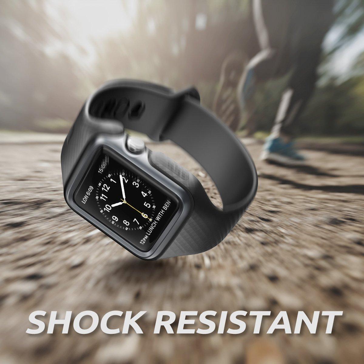 eebf41c7fc2 pulseira relógio apple watch 42mm preta proteçao vidro. Carregando zoom.