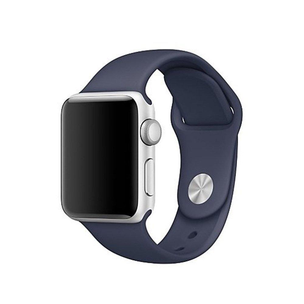 60ed2e4b69b pulseira relógio apple watch 42mm silicone azul marinho. Carregando zoom.