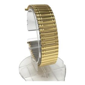 Pulseira Relógio Banh. Ouro P/ Omega Mido Tissot 16 A 22mm