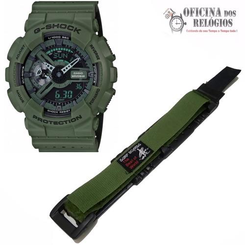 pulseira relogio casio g-shock ga-110 verde frete grátis