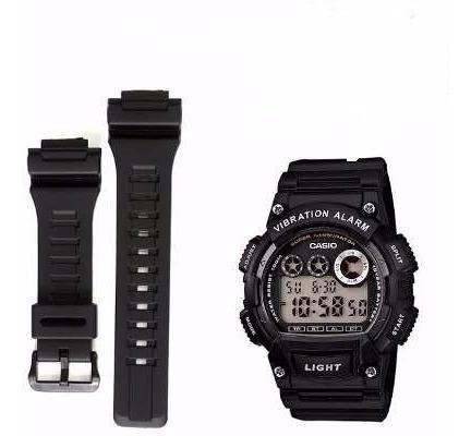 pulseira relógio casio w-735h aq-s810w cor preto