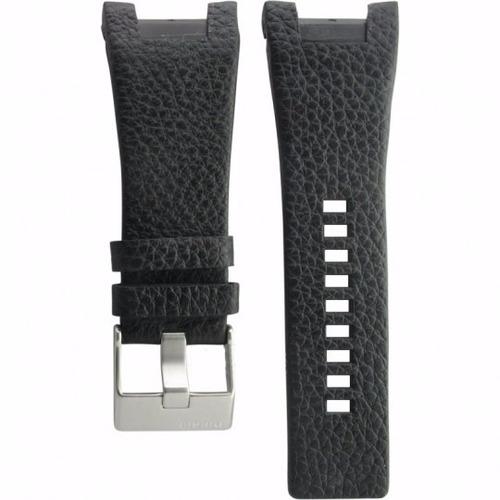 pulseira relógio die-sel dz1216 couro preta