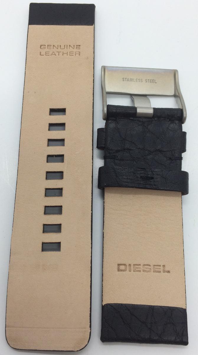 80c953e6c38 pulseira relógio diesel 26mm em couro preto original. Carregando zoom.