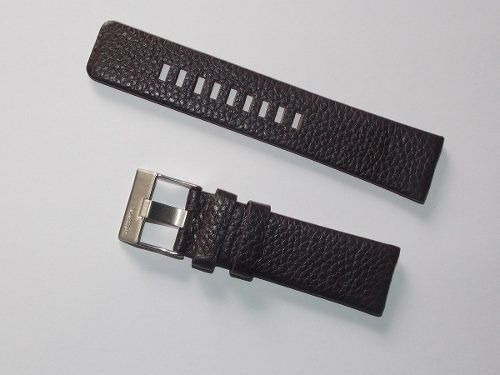 pulseira relógio diesel couro marrom 24mm
