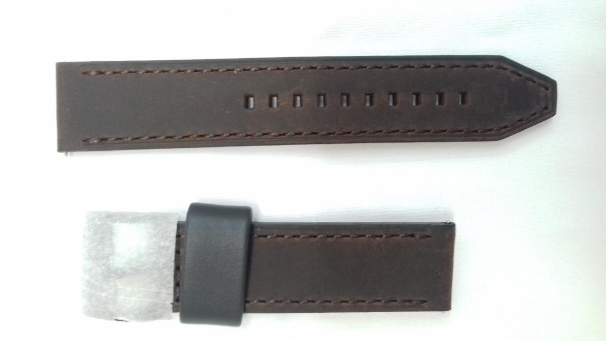 56c158b2171b7 pulseira relógio fossil fs4656 fs 4656 couro marrom 22mm. Carregando zoom.