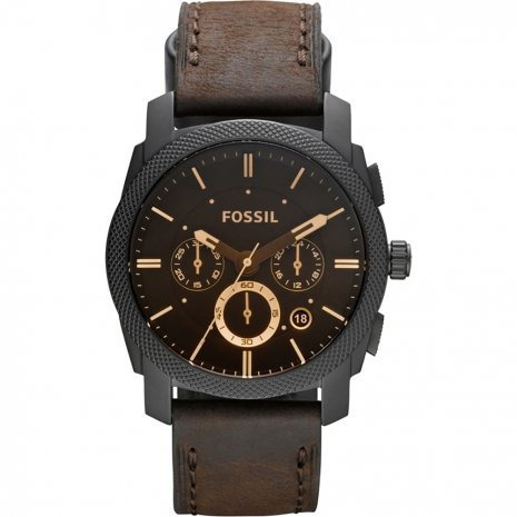 0bbfee622f631 Pulseira Relógio Fossil Fs4656 Fs 4656 Couro Marrom 22mm - R  279,00 ...