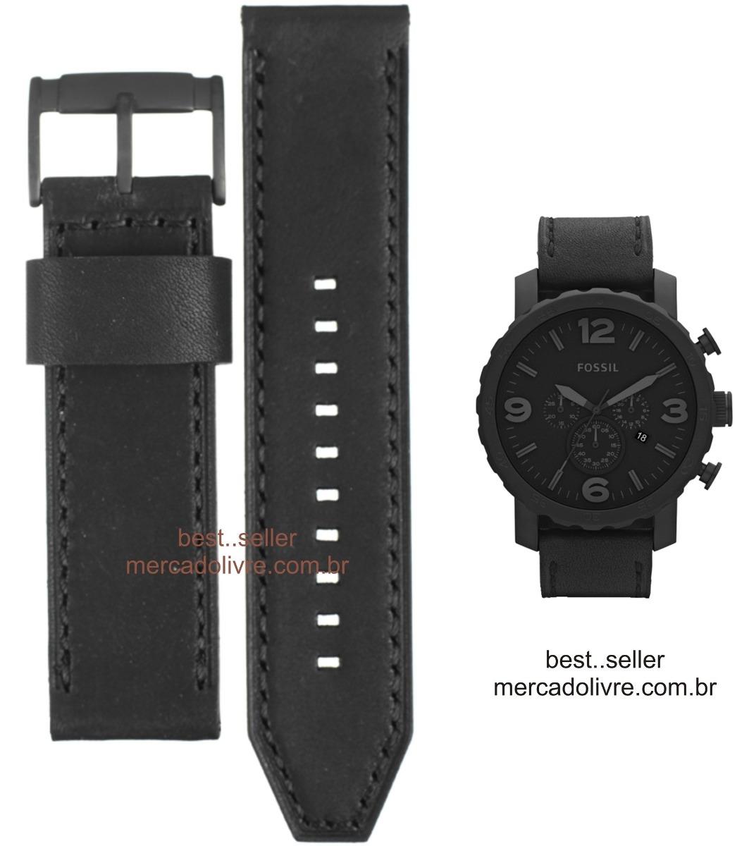 1d549f6f597 pulseira relógio fossil jr 1354 jr1354 1390 1357 1369 couro. Carregando zoom .