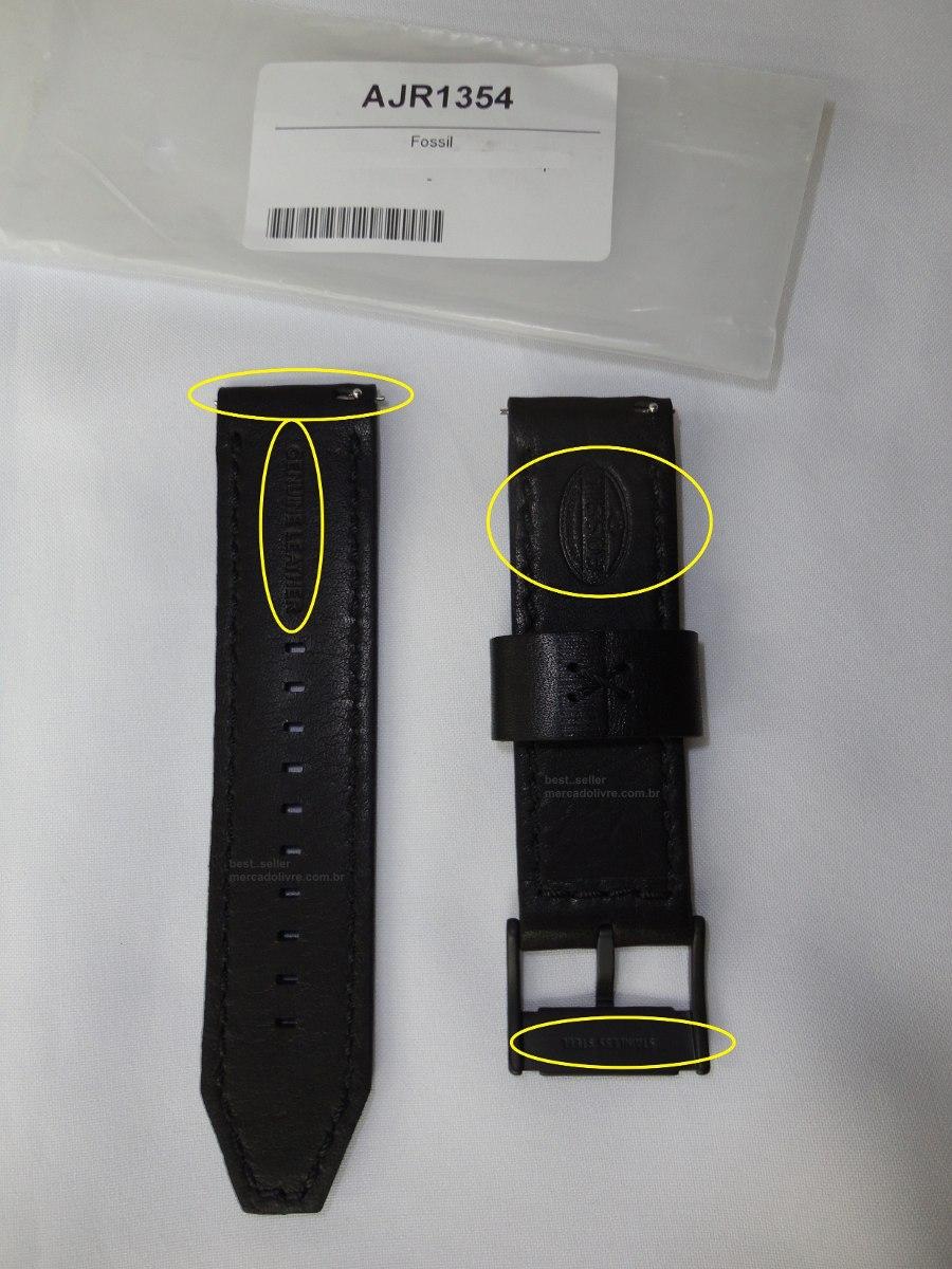 99995ded574 pulseira relógio fossil jr 1354 jr1354 1390 1357 1369 couro. Carregando  zoom.