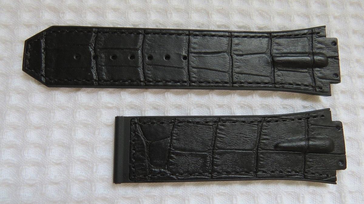 e80367425be pulseira relógio hublot formula 1 couro premium preto. Carregando zoom.