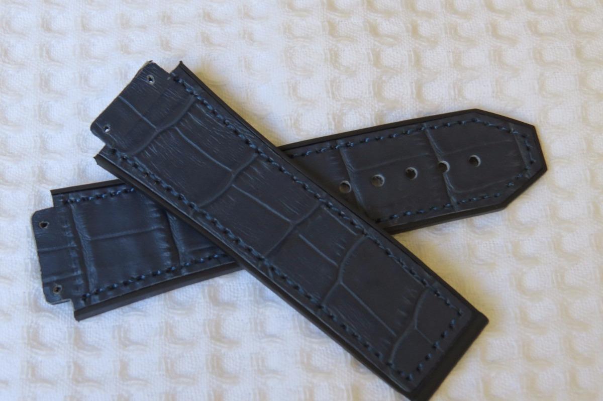 c5be256d324 pulseira relógio hublot premium azul jeans. Carregando zoom.