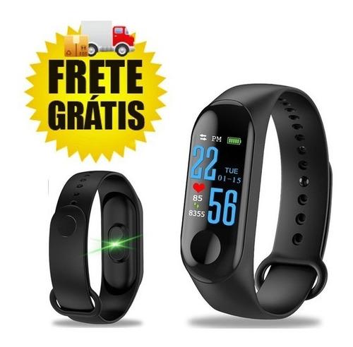 pulseira relógio inteligente smart band m4s fitness promoção