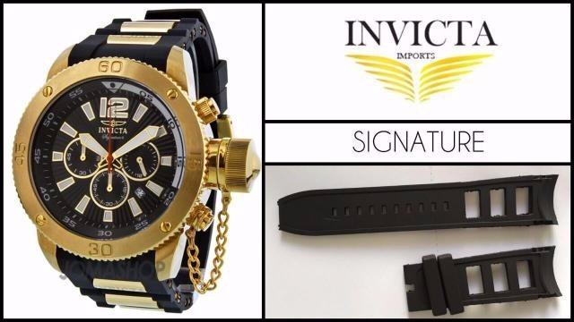 ee748da487a Pulseira Relógio Invicta Signature Ii 7427 7428 Preta - R  78