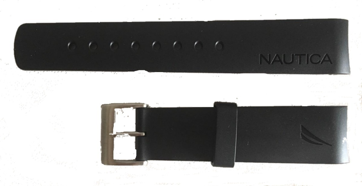 74acb4f335a pulseira relogio nautica 22mm preta. Carregando zoom.