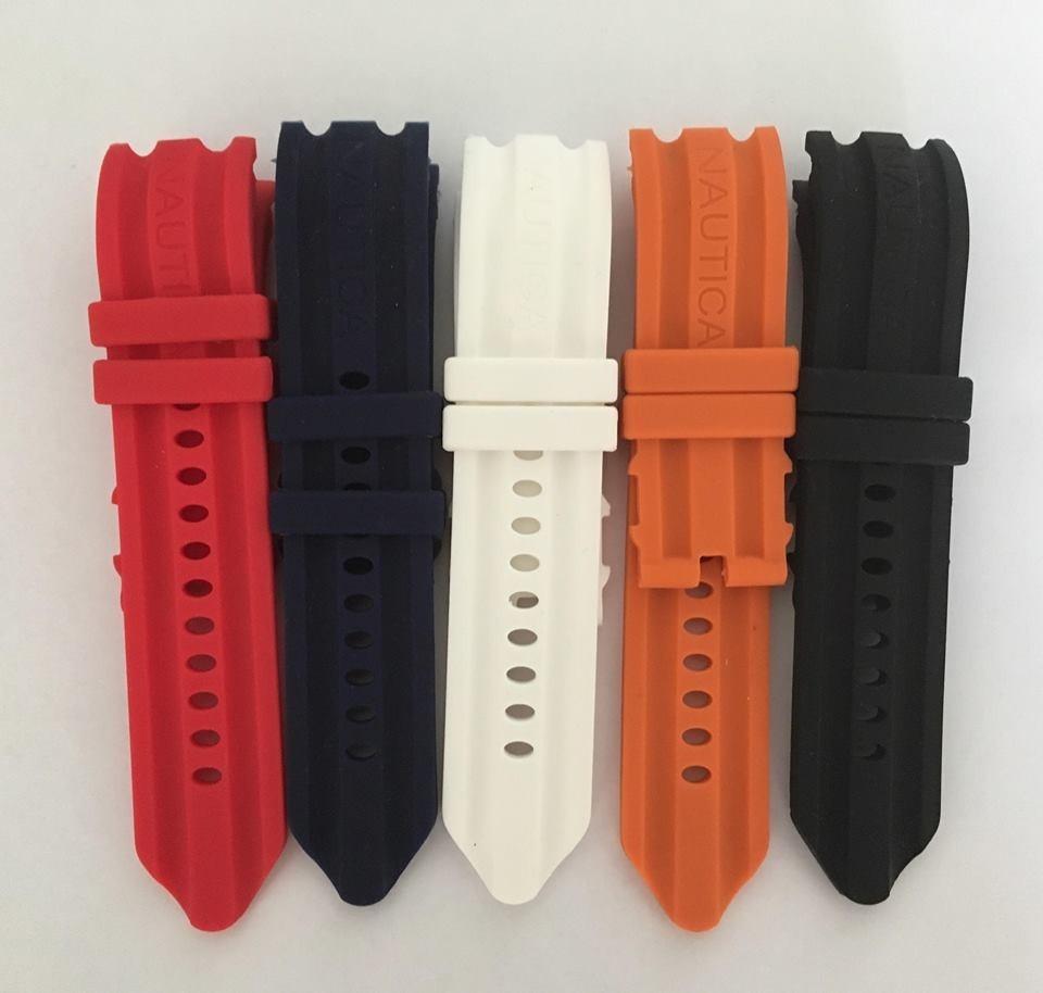 a19d88d8a0a pulseira relogio nautica 24mm diversas cores. Carregando zoom.