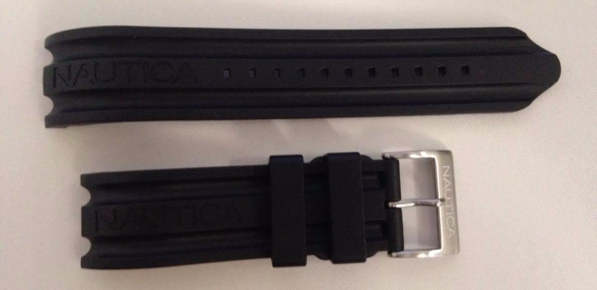 5954a923f9e pulseira relógio nautica a14600g 22mm original preta. Carregando zoom.