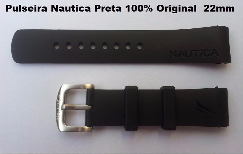 41d29902776 pulseira relogio nautica n11548m de 22mm preta. Carregando zoom.