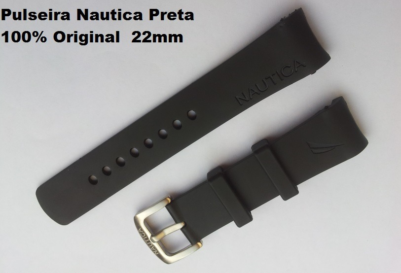 0254e6dbfa5 pulseira relogio nautica original n14536 n14537 n14524 preta. Carregando  zoom.