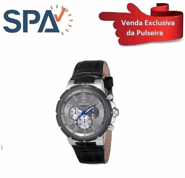 d828dee7433 Pulseira Relogio Seculus 17093gpsgsc3 100% Original - R  169