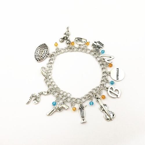 pulseira riverdale ajustável cor prata nova pronta entrega