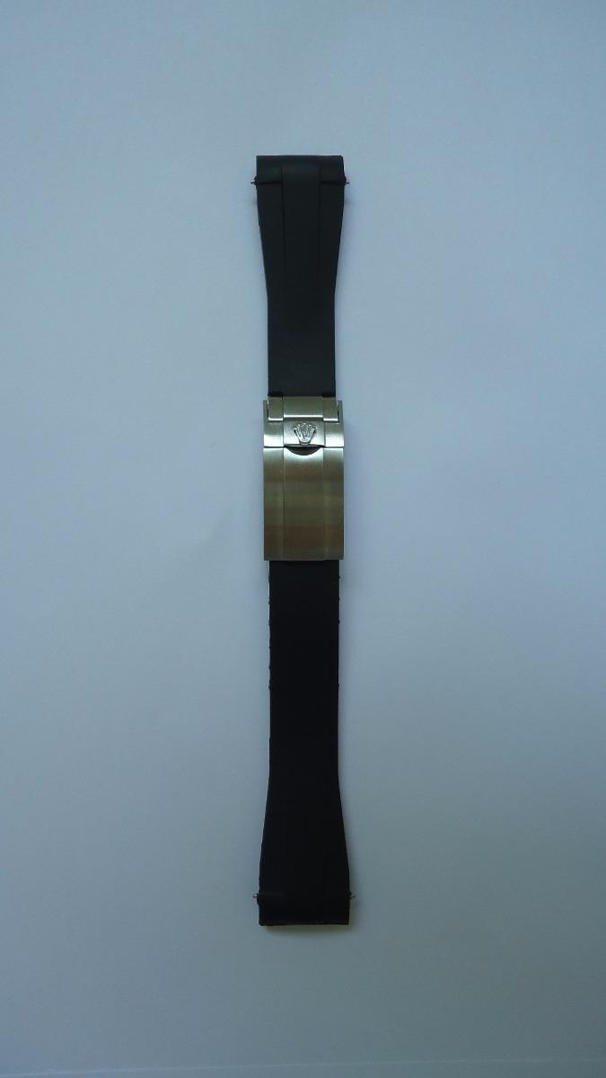 c388ee7a49d Pulseira Rolex Rubber B Borracha Silicone 20mm Presi Prata - R  229 ...