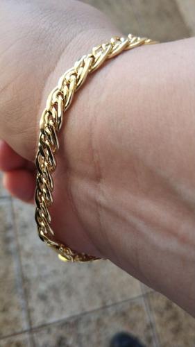 pulseira romana 9mm largura ouro 20cm 18k 12.20 gramas!!